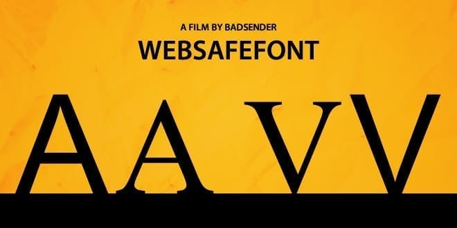 Web Safe Font