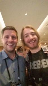 Mark Robbins, un des dieux de l'intégration HTML, et Thomas Defossez