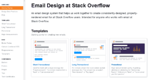 Email Design at Stack Overflow