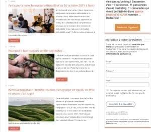 Homepage Blog Badsender
