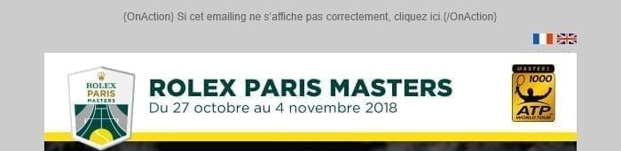 Header emails Rolex Paris Masters 2018