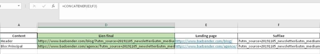 url builder email